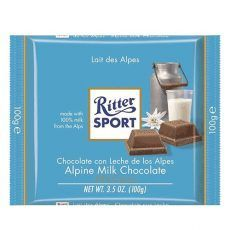 Chocolate Ritter Sport Leche Alpes x100g